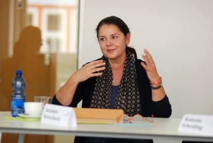 Susanne Worschech im Workshop - Kunst und Kommunikation im Social WEB (c) Boris A. Knop