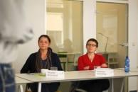 Susanne Worschech und Ramona Scheiding im Workshop - Kunst und Kommunikation im Social WEB (c) Boris A. Knop