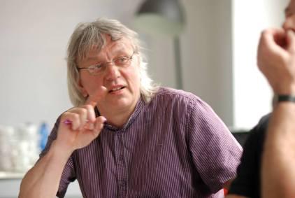 Uwe Klos im Workshop - Kunst und Kommunikation im Social WEB (c) Boris A. Knop