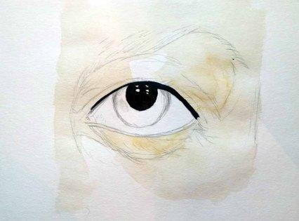 Wie male ich ein Auge in Aquarell - Pupille (c) Frank Koebsch (3)