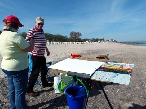 Aquarellkurs am Strand von Kühlungsborn(c) Frank Koebsch (1)