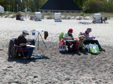 Aquarellkurs am Strand von Kühlungsborn(c) Frank Koebsch (4)