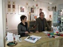 Frau Höppner und Herr Herr Gröning in der Galerie Severina (c) Susanne Haun