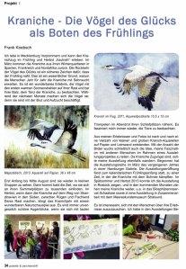 Kraniche - Vögel des Glücks - Frank Koebsch - in der palette 3 - 2014