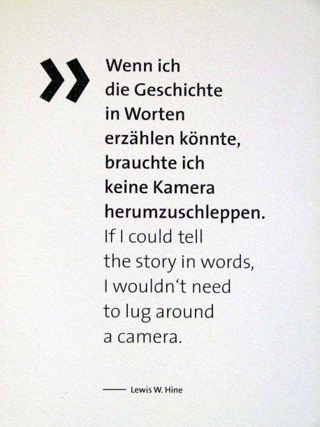 Lewis W. Hine - Warum sollte man fotografieren?