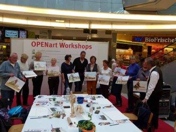 Teilnehmer des Aquarellkurses Stadtansichten von Rostock