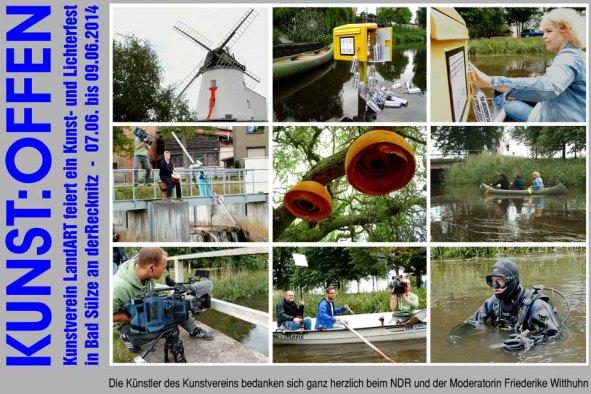 Drehtag mit dem NDR für Kunst Offen in Bad Sülze