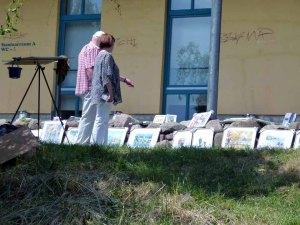 Ein Kommen und Gehen von Besuchern bei den Aquarellen von FRank Koebsch (3)