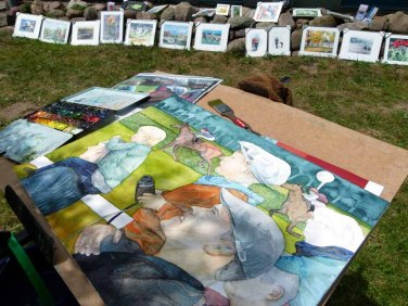 Frank Koebsch malt bei Kunst Offen