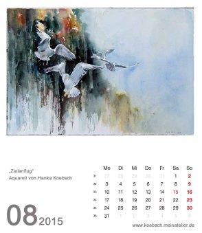 Kalenderblatt August 2015