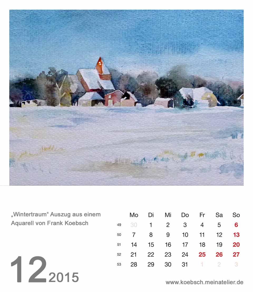 Kalenderblatt Dezember 2015