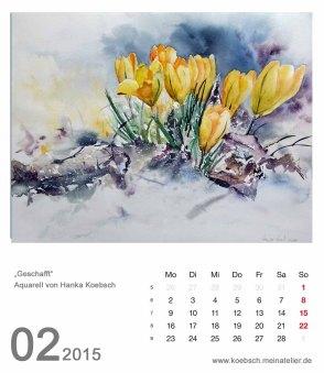 Kalenderblatt Februar 2015