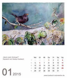 Kalenderblatt Januar 2015