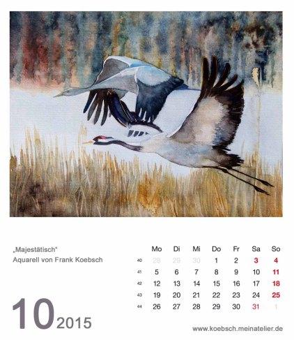 Kalenderblatt Oktober 2015
