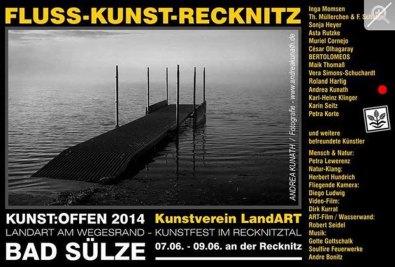 Kunst Offen - Fluss - Kunst -Recknitz - Andrea Kunath