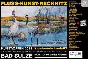 Kunst Offen - Fluss - Kunst -Recknitz - Frank Koebsch