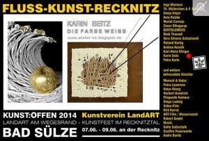 Kunst Offen - Fluss - Kunst -Recknitz - Karin Seitz