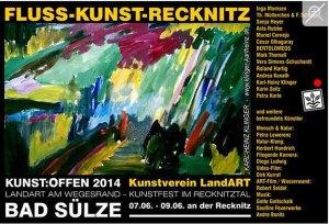 Kunst Offen - Fluss - Kunst -Recknitz - Karl-Heinz Klinger