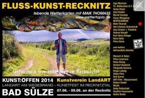 Kunst Offen - Fluss - Kunst -Recknitz - Maik Thomass