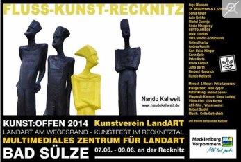 Kunst Offen - Fluss - Kunst -Recknitz - Nando Kallweith