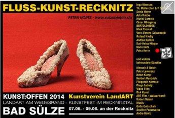 Kunst Offen - Fluss - Kunst -Recknitz - Petra Korte