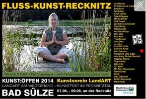 Kunst Offen - Fluss - Kunst -Recknitz - Petra Lewerenz