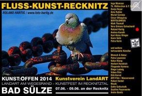 Kunst Offen - Fluss - Kunst -Recknitz - Roland Hartig