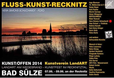 Kunst Offen - Fluss - Kunst -Recknitz - Vera Simons-Schuchardt