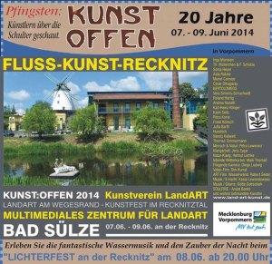 Kunst Offen - Fluss - Kunst -Recknitz