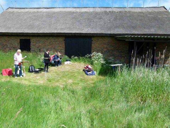 Malkurs auf den Boddenwiesen von Middelhagen (c) FRank Koebsch (3)