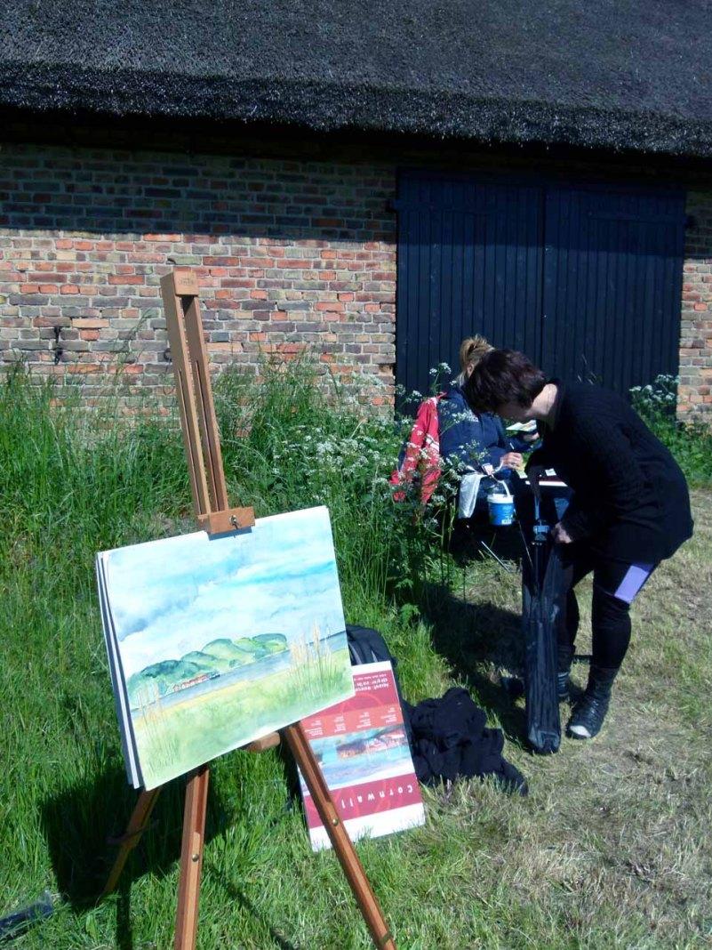 Malkurs auf den Boddenwiesen von Middelhagen (c) FRank Koebsch (7)