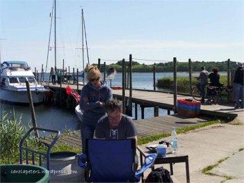 Malkurs mit Frank Koebsch - im Hafen von Groß Zicker 2 (c) Carola Peters