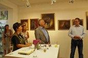 Maike Josupeit, Dr. Wolfgang Rühle - Präsident des Doberaner Rennvereins, Frank Koebsch bei der Eröffnung der Ausstellung Faszination Galopper (c) Karina Sturm