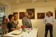 Dr. Wolfgang Rühle - Präsident des Doberaner Rennvereins bedankt sich für die Ausstellung (c) Karina Sturm