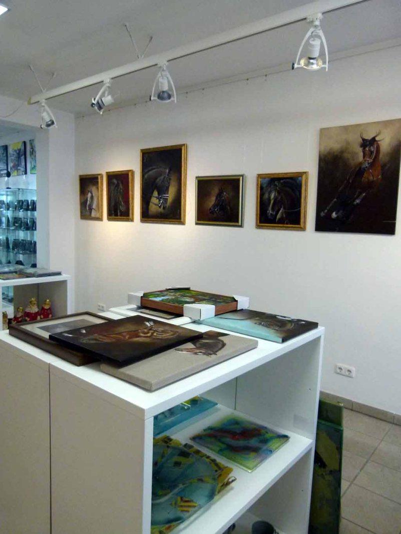erste Eindrücke von der Ausstellung Faszination Galopper (c) Frank Koebsch