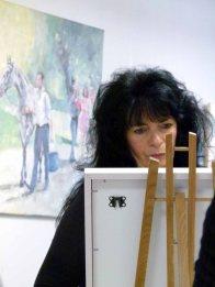 Frau Simone Samrey - TREFFpunkt GmbH in der ausstellung Faszination Galopper (c) Frank Koebsch