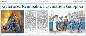 nbahn. Faszination Galopper im OSTSEE-ANZEIGER 2014 07 09
