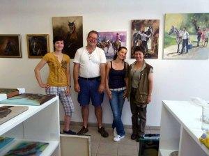 Glückliche Künstler - Wiebke Haas - Frank Koebsch - Karina Sturm - Maike Josupeit in der Galerie Severina