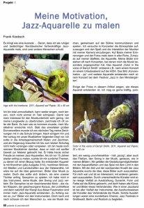 Meine Motivation Jazz Aquarelle zu malen - Frank Koebsch - Palette & Zeichenstift 4 / 2014