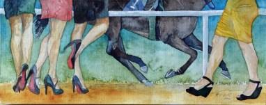 Schaulaufen (c) Aquarell von Frank Koebsch