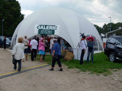 Besucher der Ausstellung Faszination Galopper auf dem Ostsee Meeting 2014 (c) Frank Koebsch (2)
