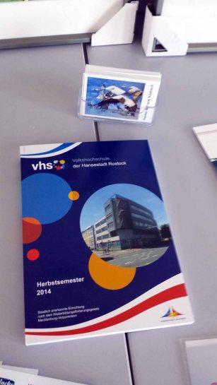 Das Kursprogramm der VHS Rostock mit Aquarellkursen von Frank Koebsch