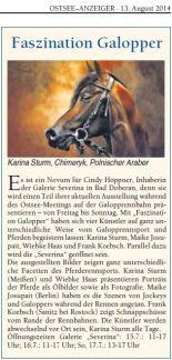 Faszination Galopper - Ostsee Anzeiger 2014 08 13