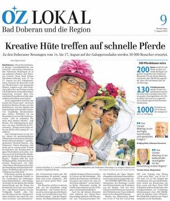 Kreative Hüte treffen auf schnelle Pferde - Ostsee Zeitung 2014 08 07