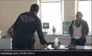 TV Rostock berichtet über Aquarellkurse von Frank Koebsch an der VHS Rostock - 2014 08 29 (1)