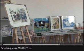 TV Rostock berichtet über Aquarellkurse von Frank Koebsch an der VHS Rostock - 2014 08 29 (2)