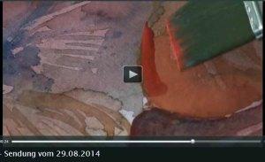 TV Rostock berichtet über Aquarellkurse von Frank Koebsch an der VHS Rostock - 2014 08 29 (5)