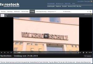 TV Rostock berichtet über den Tag der offenen Tür der VHS Rostock -2014 08 29