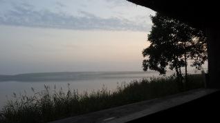 Abenddämmerung vor dem Beobachtungsplattform auf dem Rederangsee ©Frank Koebsch (2)