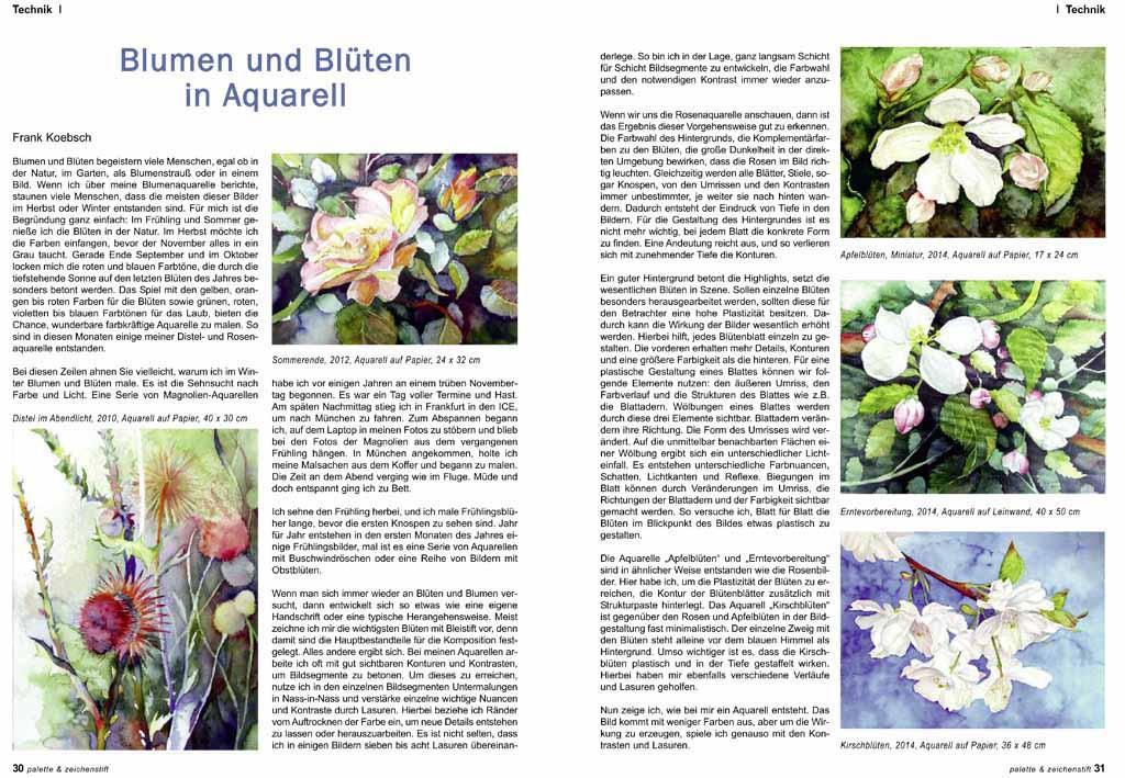 Blumen & Blüten in Aquarell | Bilder, Aquarelle vom Meer & mehr ...